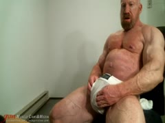 Tom Lord show up his pumped fat cock on cam