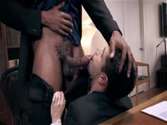 Giving your black Boss a blow job and getting barebacked