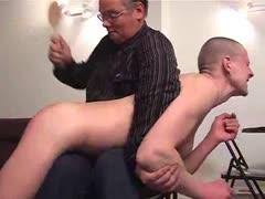 Old man spanking youg guys