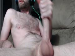 str8 guy jerking monster cock