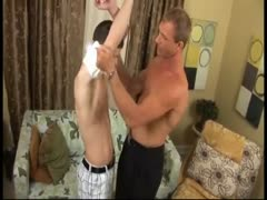 Daddy get blowjob and fuck a twink