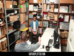 GayShoplifter - Muscle guard takes a shoplifter?s virginity