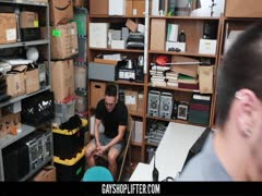 GayShoplifter - Security Guard Shoves His Cock In A Public Masturbator?s Mouth