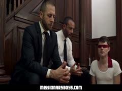 MissionaryBoyz - Priest Daddies Dildo Two Boys? Tight Holes