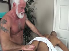 Dad?s Bareback Massage