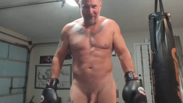 naked kickboxing muscle DILF